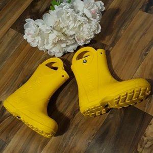 Crocs  Unisex  Yellow Mid Length  Rain Boots